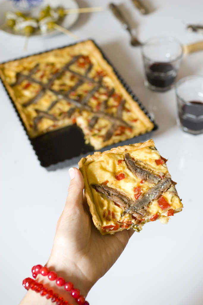 Quiche de anchoas 2