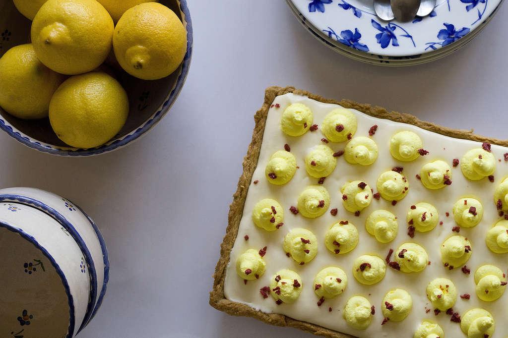 Tarta de limón y crema mascarpone 2