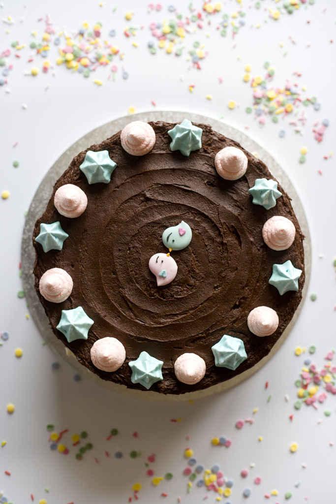 Tarta de chocolate y frambuesa 1