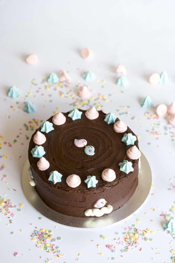 Tarta de chocolate y frambuesa 4