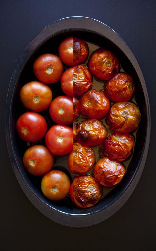 Crema de tomates asados y albahaca 2