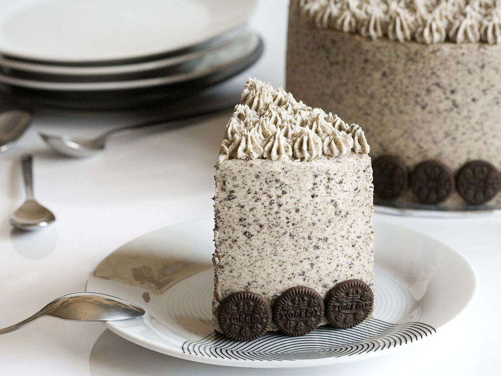 Tarta de chocolate y buttercream de galletas Oreo 3