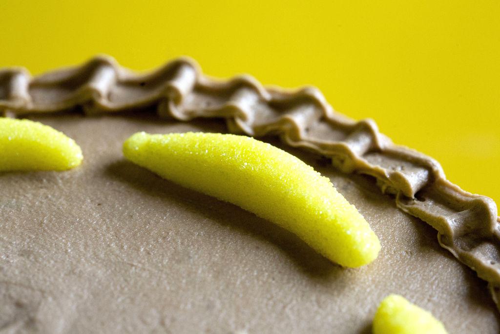 Tarta de plátano y buttercream de Nutella 6