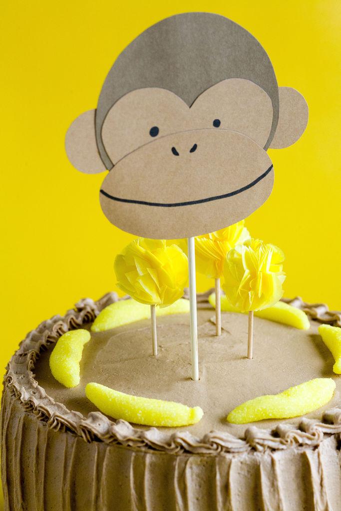 Tarta de plátano y buttercream de Nutella 7