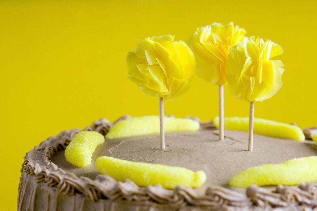 Tarta de plátano y buttercream de Nutella 8