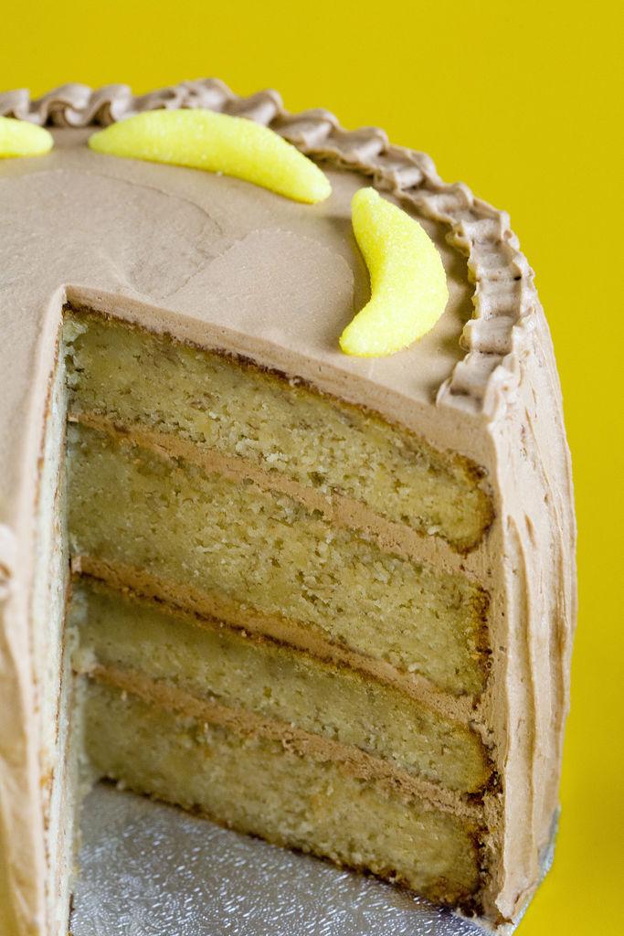 Tarta de plátano y buttercream de Nutella 9