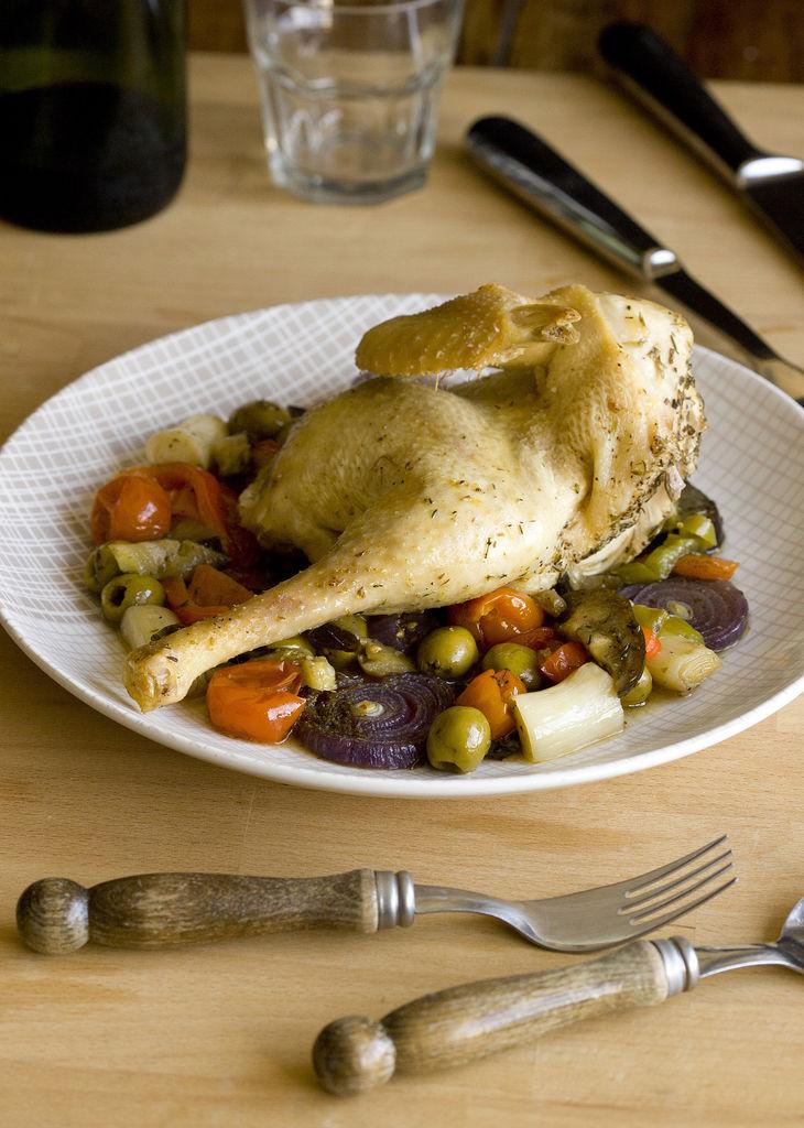 Pollo con verduras al horno - Verduras rellenas al horno ...