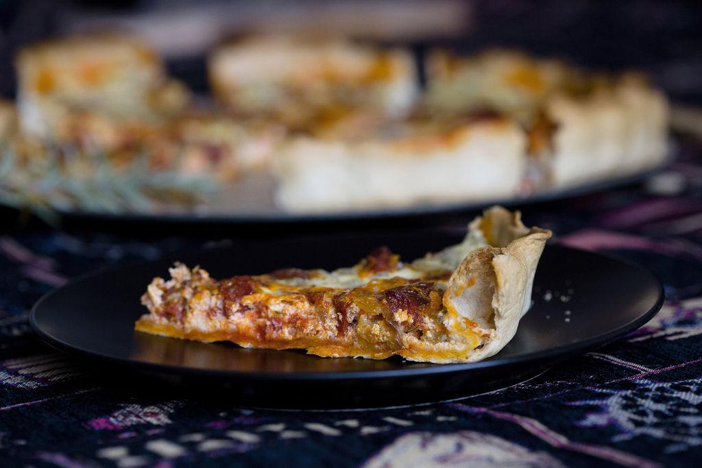 Quiche de chorizo, cebolla y romero 2
