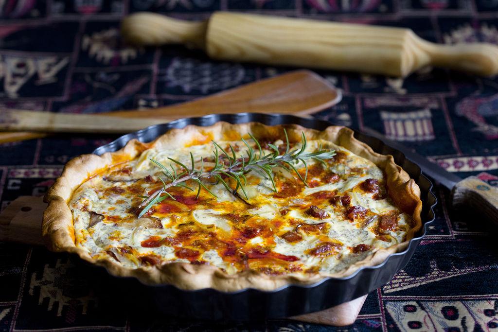 Quiche de chorizo, cebolla y romero 3
