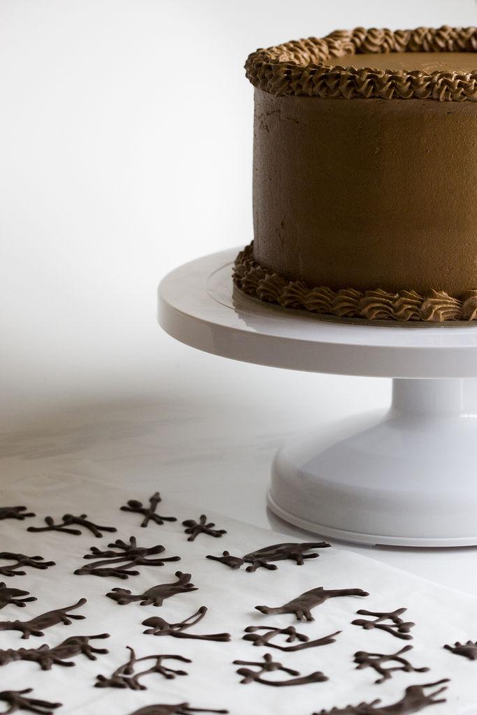 Tarta de vainilla y buttercream de chocolate 8