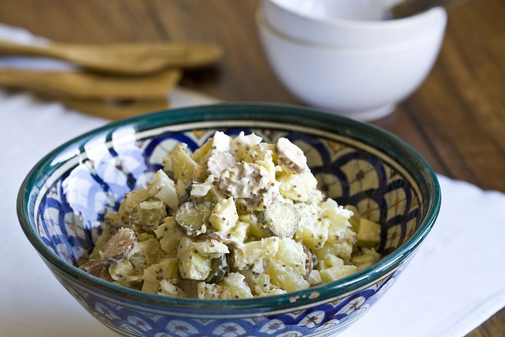 Kartoffelsalat o ensalada de patata alemana 3