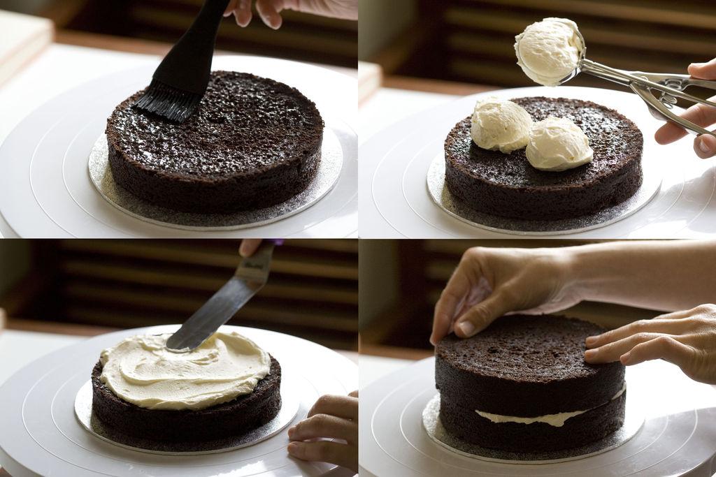 Tarta de chocolate y buttercream de vainilla 'Monster High' 4