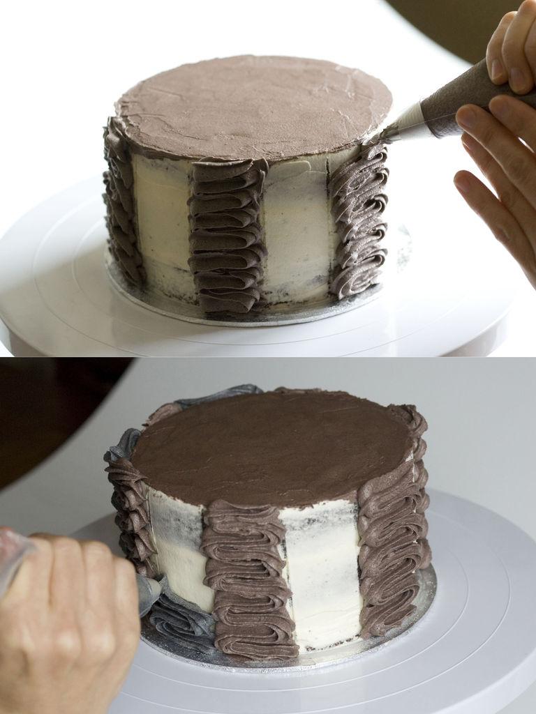 Tarta de chocolate y buttercream de vainilla 'Monster High' 6