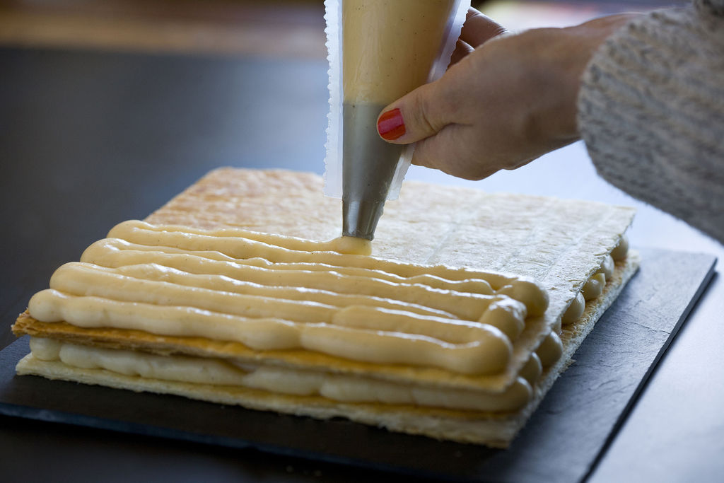Tarta milhojas de crema pastelera 1