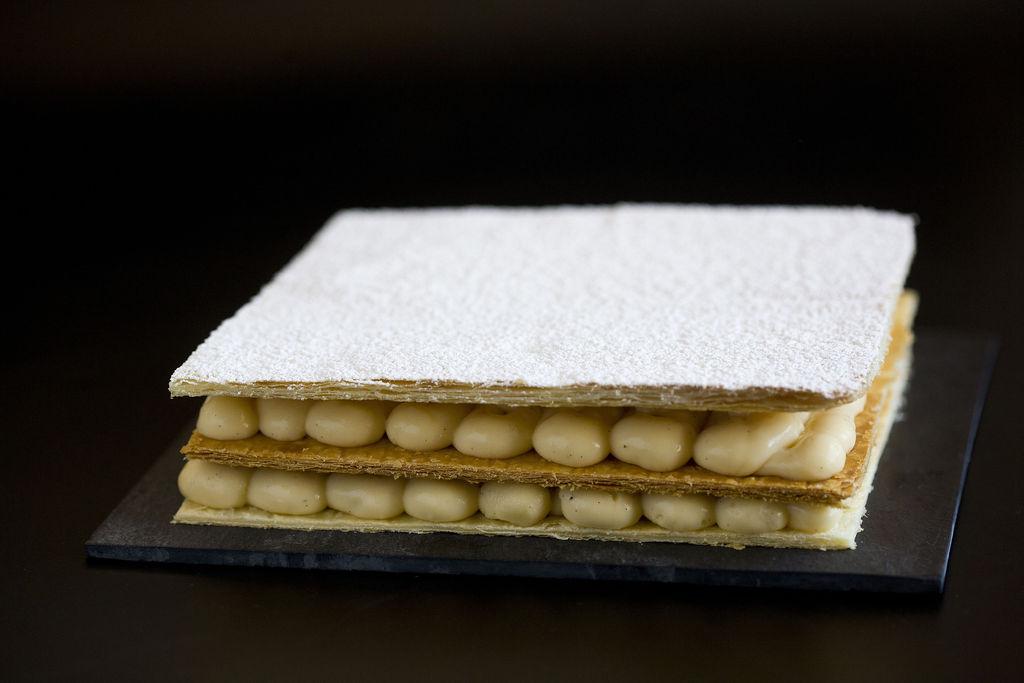 Tarta milhojas de crema pastelera 3
