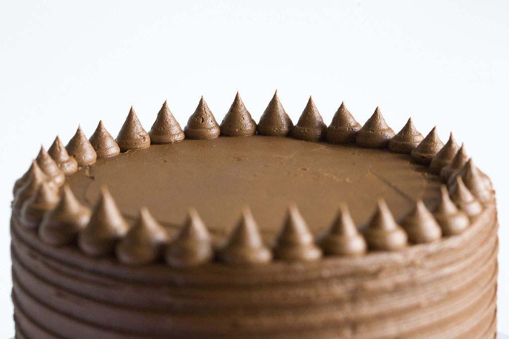 Tarta de plátano y buttercream de chocolate 4