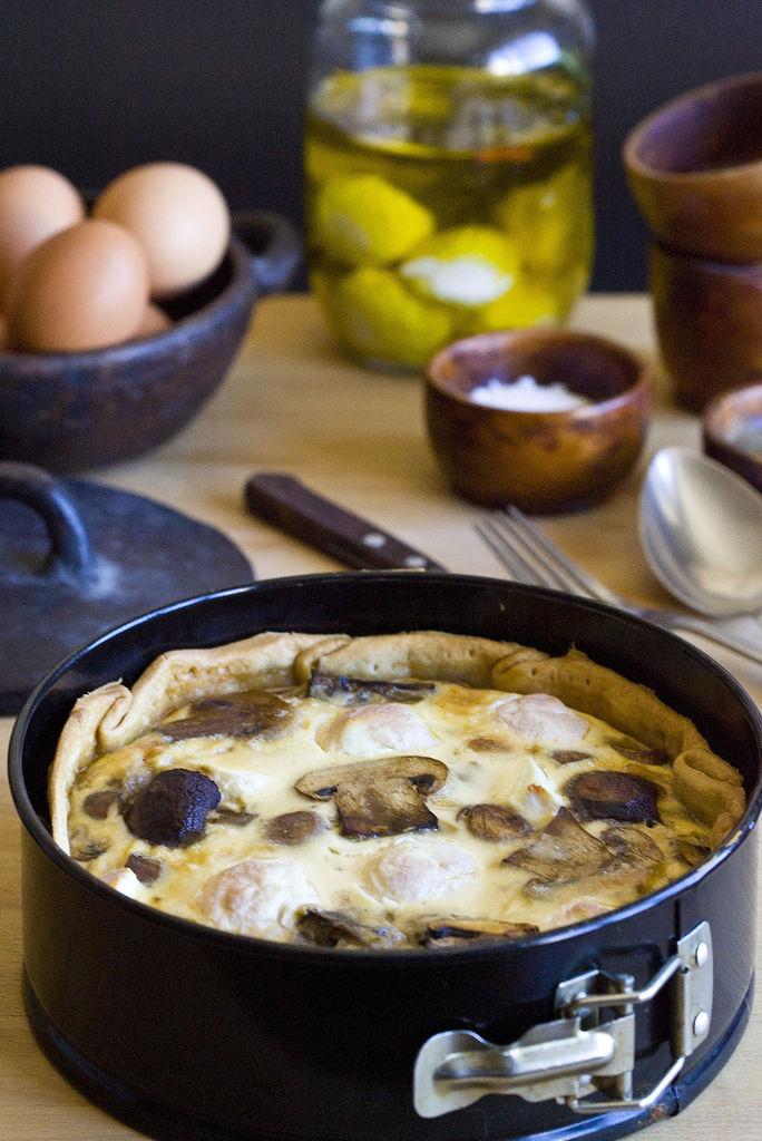 Quiche de champiñones Portobello, bacon y queso de cabra casero 3