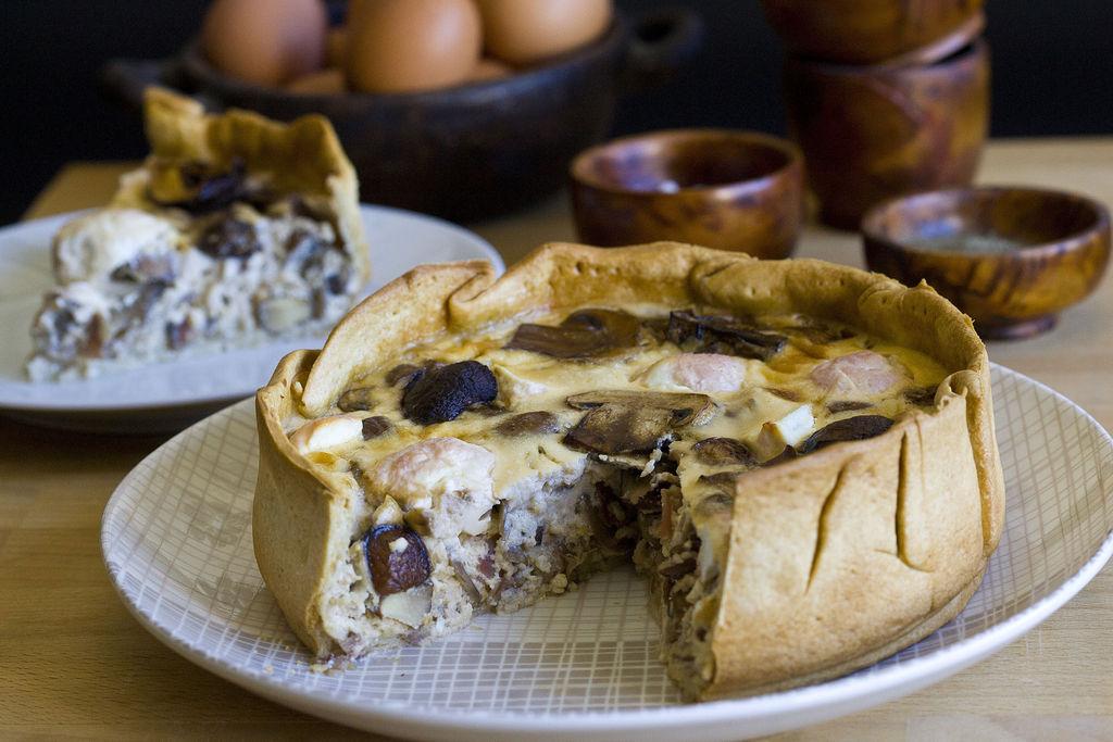 Quiche de champiñones Portobello, bacon y queso de cabra casero 6