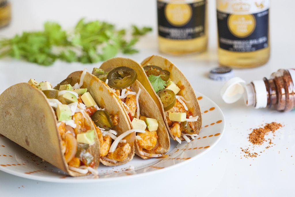 Tacos crujientes de pollo y verduras 3