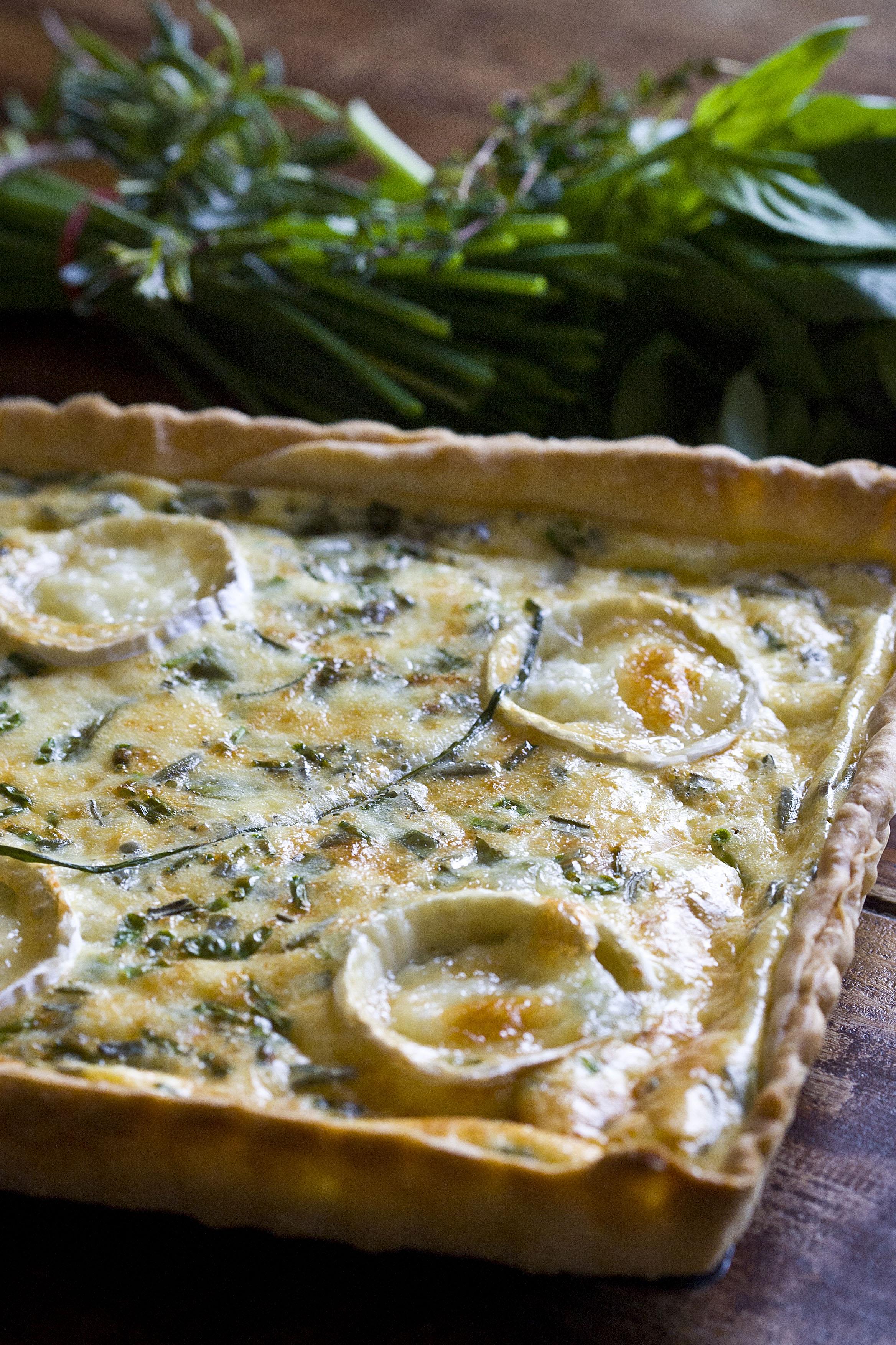Quiche de quesos y hierbas aromáticas 1