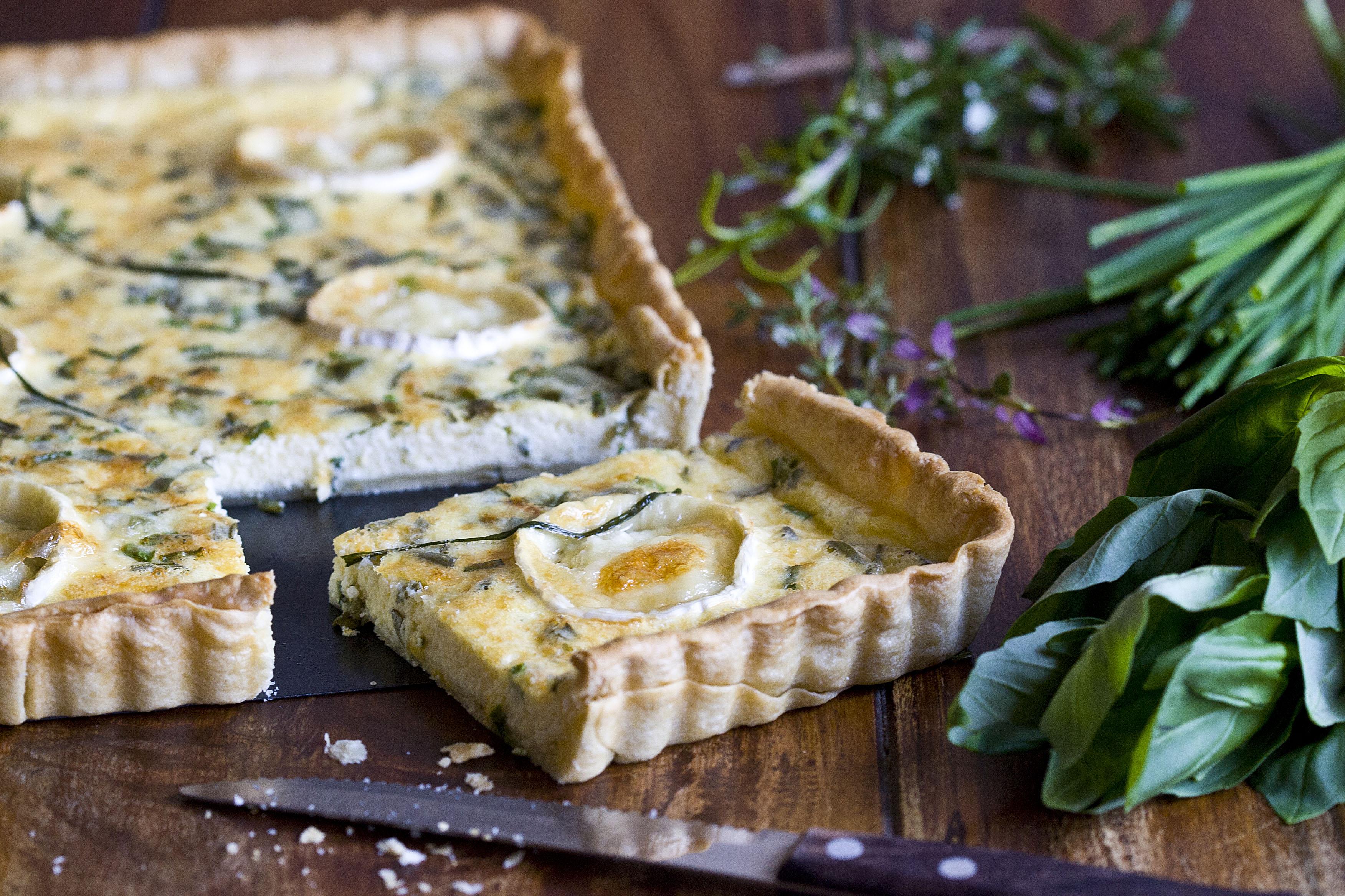 Quiche de quesos y hierbas aromáticas 3