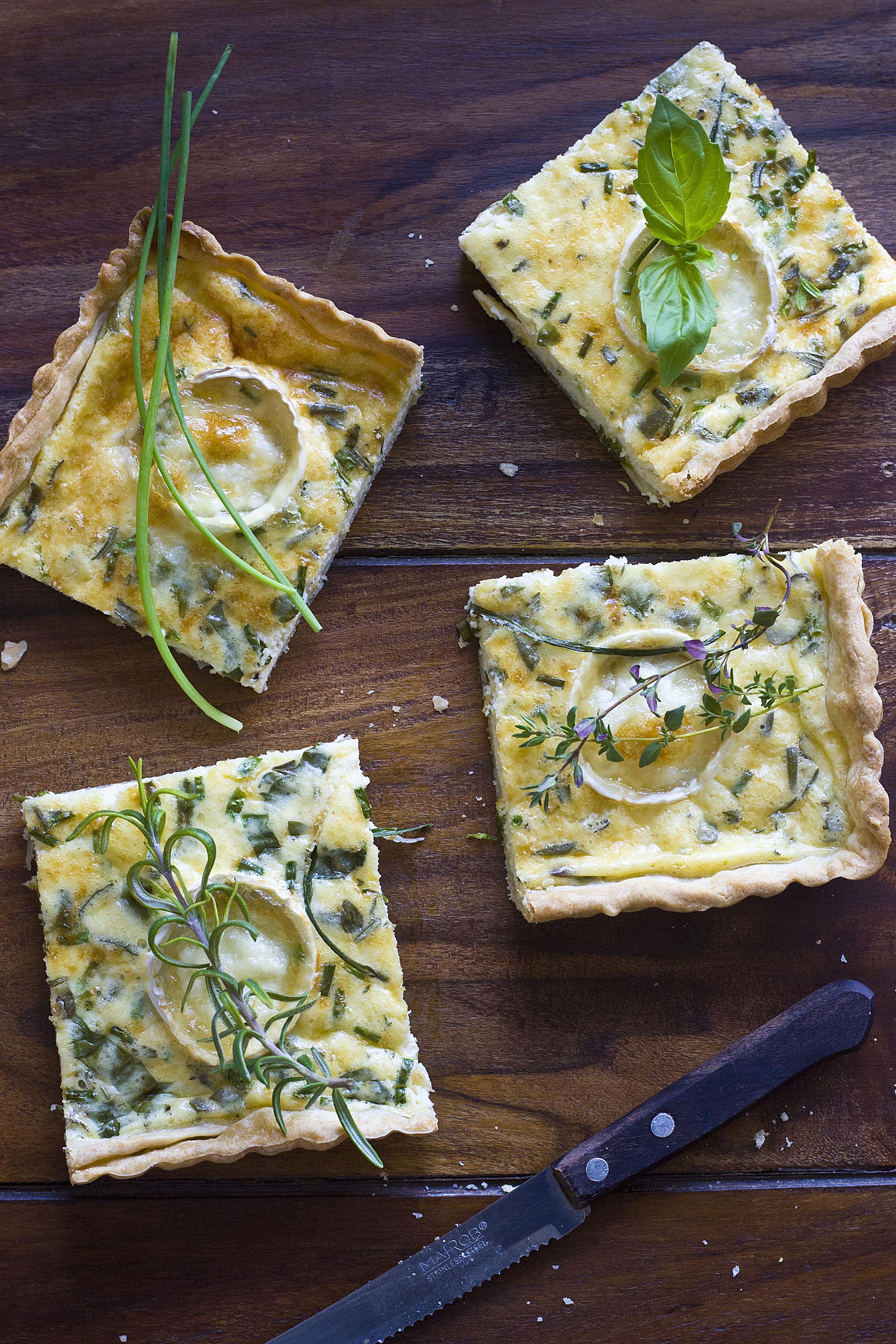 Quiche de quesos y hierbas aromáticas 4