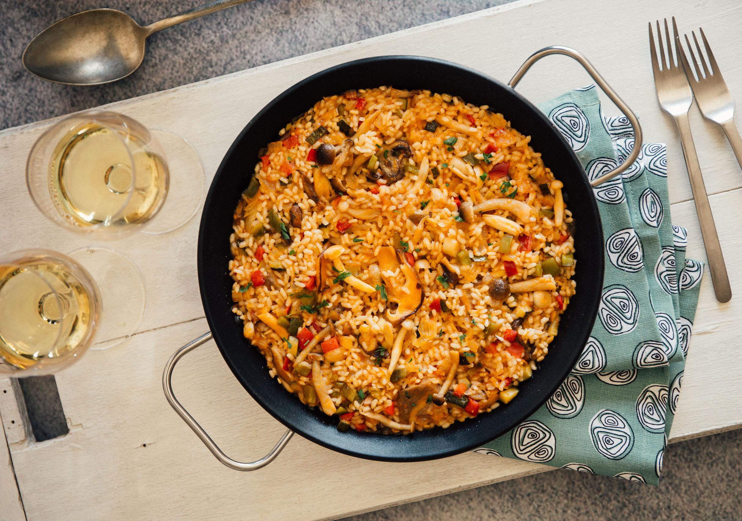 Paella de verduras y setas for Como hacer paella de verduras